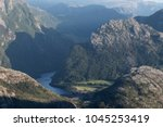 view of the mountains from the... | Shutterstock . vector #1045253419