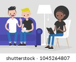 young homosexual arguing couple ...   Shutterstock .eps vector #1045264807