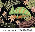 chameleon lizard  tropical... | Shutterstock .eps vector #1045267261
