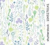 hand drawn seamless pattern... | Shutterstock .eps vector #1045270141