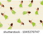 seamless pattern with hawaiian... | Shutterstock .eps vector #1045270747