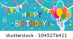 happy birthday  greeting card.... | Shutterstock .eps vector #1045276411