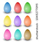 set of varied colored realistic ... | Shutterstock .eps vector #1045277095