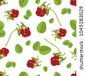 seamless pattern of realistic... | Shutterstock .eps vector #1045283029