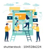 vector creative illustration ... | Shutterstock .eps vector #1045286224