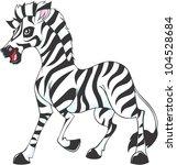 happy zebra illustration | Shutterstock .eps vector #104528684