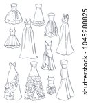 contours of prom dresses ... | Shutterstock .eps vector #1045288825