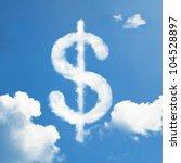 Cloud Dollar Sign Sign