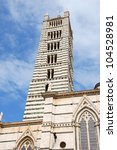 bell tower of siena cathedral ... | Shutterstock . vector #104528981