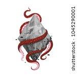 concept print scuba diving... | Shutterstock .eps vector #1045290001