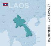 3d verctor map of cities and... | Shutterstock .eps vector #1045290277