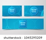 medical banner with... | Shutterstock .eps vector #1045295209