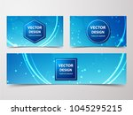 medical banner with... | Shutterstock .eps vector #1045295215