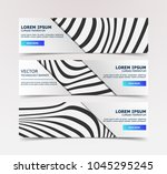 linear banner with... | Shutterstock .eps vector #1045295245