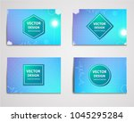 medical banner with... | Shutterstock .eps vector #1045295284