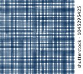 watercolor blue stripe plaid... | Shutterstock . vector #1045295425