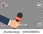 background with camera frame... | Shutterstock .eps vector #1045300051