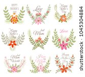 invitation floral vector... | Shutterstock .eps vector #1045304884