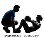 one caucasian couple man woman... | Shutterstock . vector #104530544