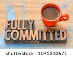 fully commited    word abstract ... | Shutterstock . vector #1045310671