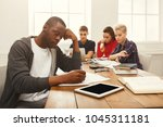 coworking or education.... | Shutterstock . vector #1045311181
