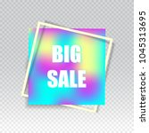 big sale square banner.... | Shutterstock .eps vector #1045313695