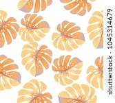 vector  tropical pattern with... | Shutterstock .eps vector #1045314679