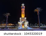 izmir clock tower  turkish ... | Shutterstock . vector #1045320019