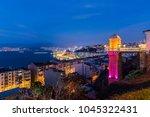 the historical elevator in... | Shutterstock . vector #1045322431