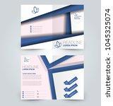 fold brochure template. flyer...   Shutterstock .eps vector #1045325074