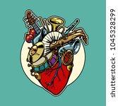 music education  heart love...   Shutterstock .eps vector #1045328299