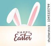 happy easter vector design with ...   Shutterstock .eps vector #1045335799