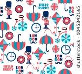 london street childish cartoon...   Shutterstock .eps vector #1045342165