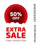 sale special offer 50 percent... | Shutterstock .eps vector #1045342909
