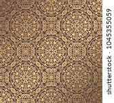 vector arabesque pattern.... | Shutterstock .eps vector #1045355059