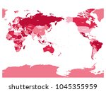 world map in four shades of... | Shutterstock .eps vector #1045355959