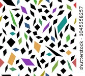 seamless vector pattern... | Shutterstock .eps vector #1045358257