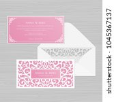 wedding invitation or greeting... | Shutterstock .eps vector #1045367137