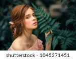 close up portrait of a ... | Shutterstock . vector #1045371451