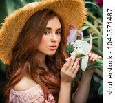 close up portrait of a ... | Shutterstock . vector #1045371487