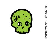 cartoon green skull | Shutterstock .eps vector #104537201