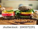 Raw Vegan Healthy Burger With...