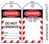 danger do not operate label... | Shutterstock .eps vector #1045375177