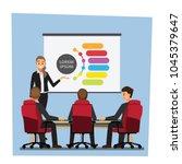 business people having board... | Shutterstock .eps vector #1045379647