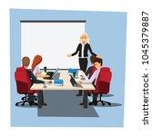 business people having board... | Shutterstock .eps vector #1045379887