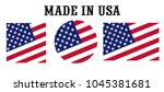 made in the united states usa... | Shutterstock .eps vector #1045381681