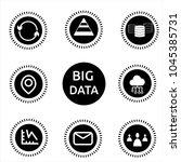 big data black and white nine... | Shutterstock .eps vector #1045385731