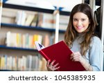 portrait of a student in a... | Shutterstock . vector #1045385935