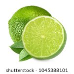 limes isolated on white... | Shutterstock . vector #1045388101