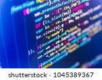 software development. web site... | Shutterstock . vector #1045389367
